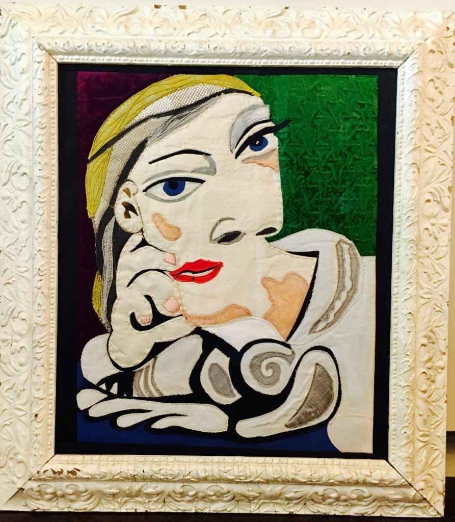 "Bonnie Martin ""Picasso In Fabric Paint And Stitch"" (2020) Not For Sale"